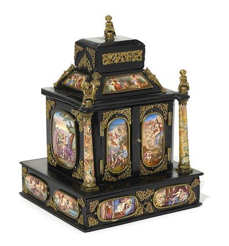 Large 19th C. Viennese Enamel Jewelry Box Edit
