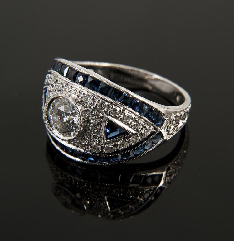 18 K white gold Featuring 28 round diamonds Edit