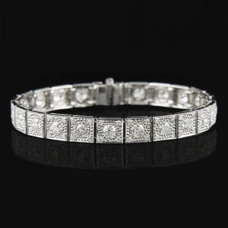 G-H COLOR ROUND BRILLIANT CUT DIAMONDS BRACELET Edit