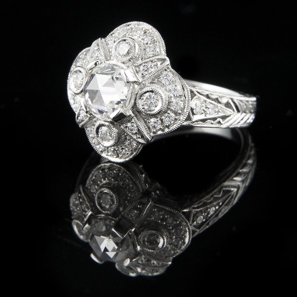VINTAGE ROSE CUT DIAMOND RING Edit