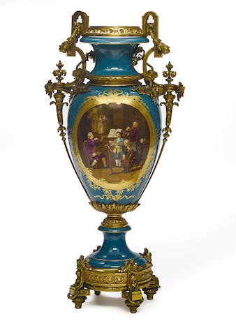 An imposing French gilt bronze mounted porcelain vase Edit