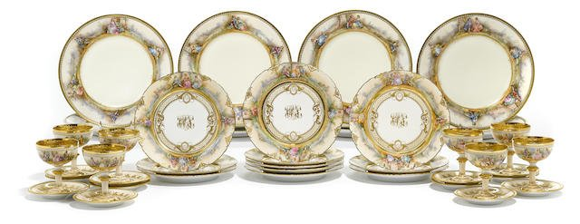 An assembled Dresden decorated porcelain part dinner se Edit
