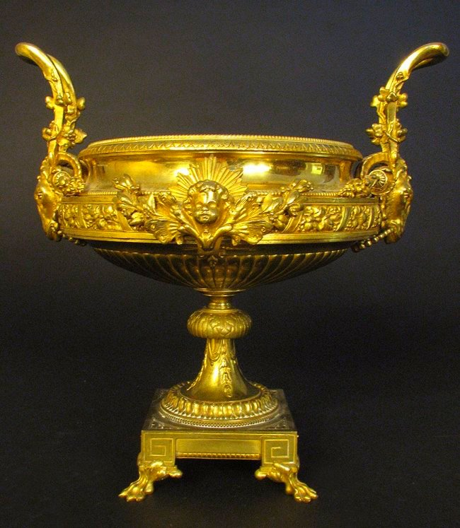 Fine 19th C. French Gilt Bronze Jardiniere/Centerpiece