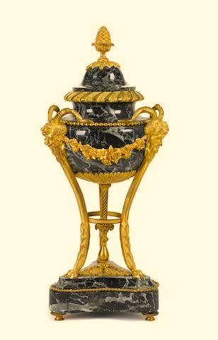 Louis XVI Style Green Marble and Gilt Bronze Urn