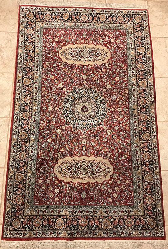 Pure Silk Hereke Design Oriental Rug Edit