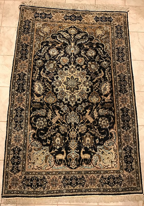 Persian Qom Silk (Silk Foundation) Rug Edit