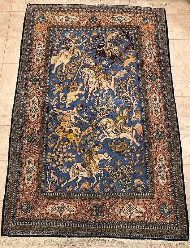 Persian Qom Kork rug Edit