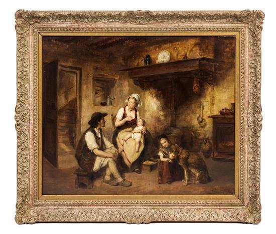 Leon Caille 19th C. Oil on Canvas