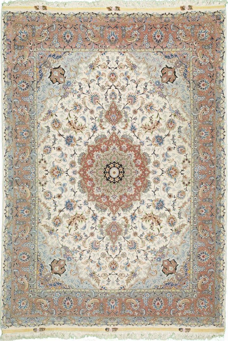 Persian Tabriz Wool&Silk Size 5'x7' UNIQUE