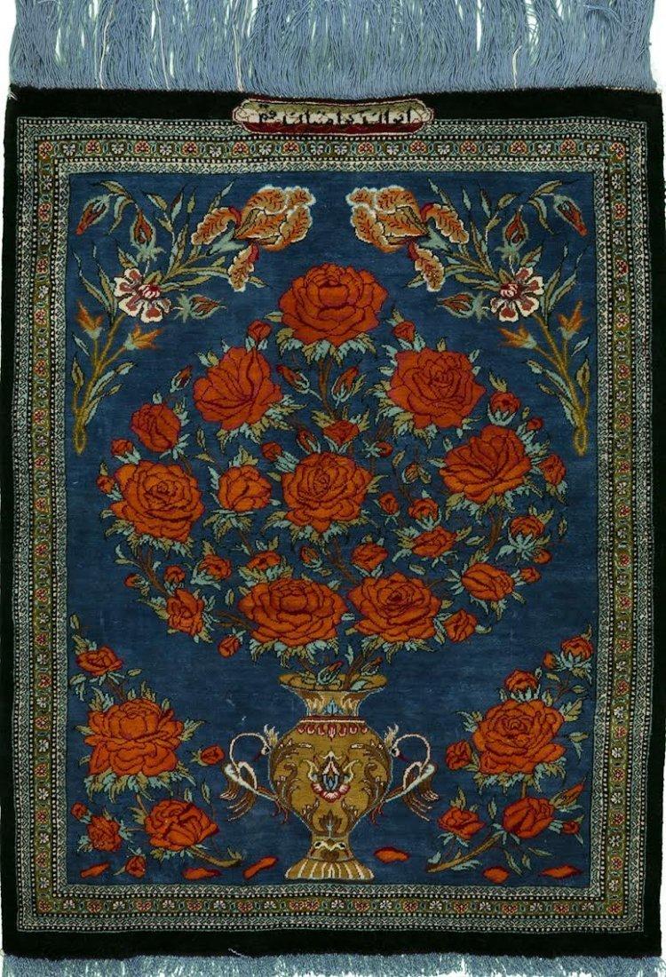 Persian Rug Qom Silk Pile & Foundation. Size 2'x3'