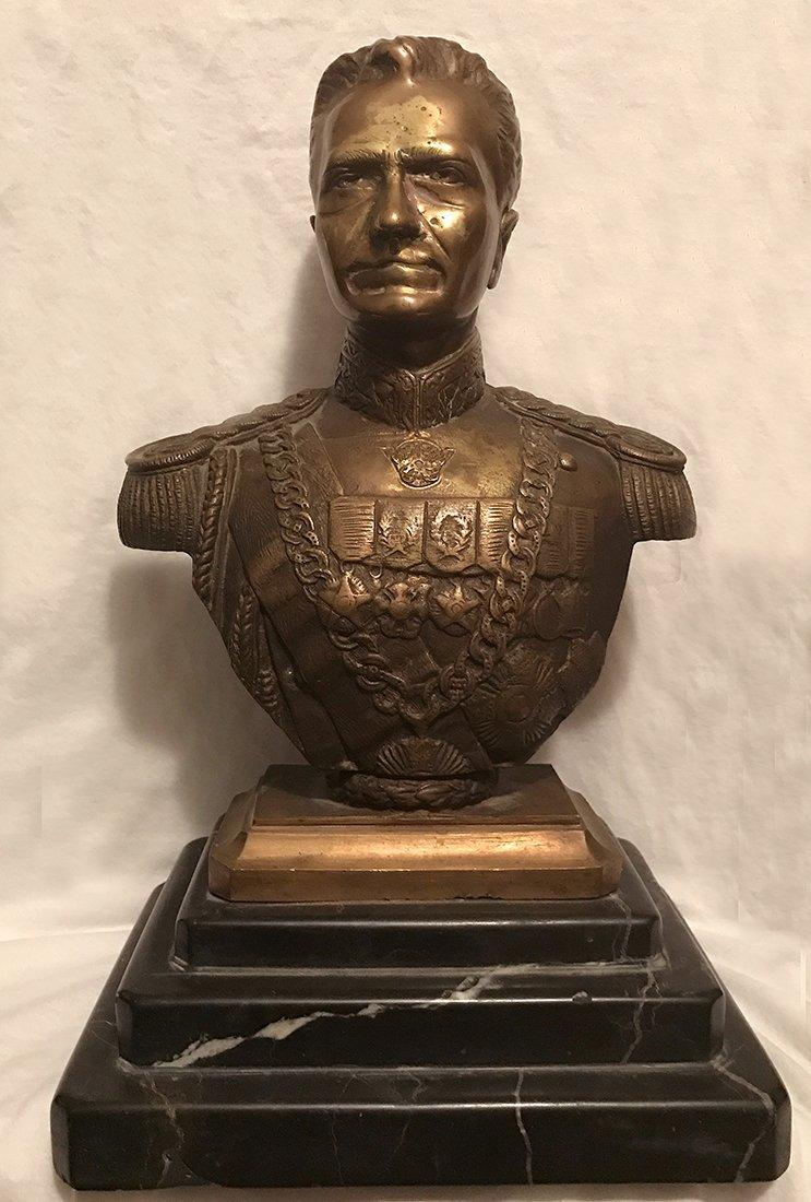 Antique Royal Persian Shah Pahlavi Bronze Statue