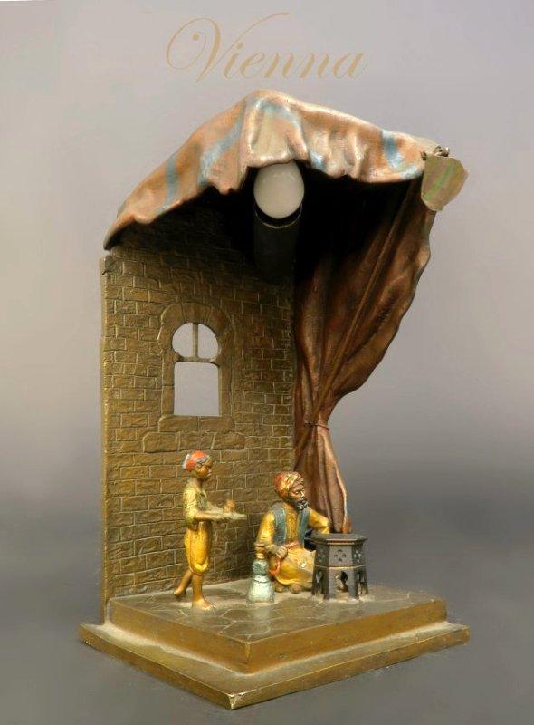 19th C. Bronze Viennese Lamp