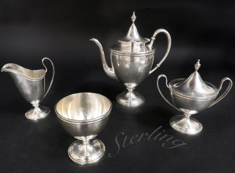 A Set of San Francisco Sterling Silver Tea Set