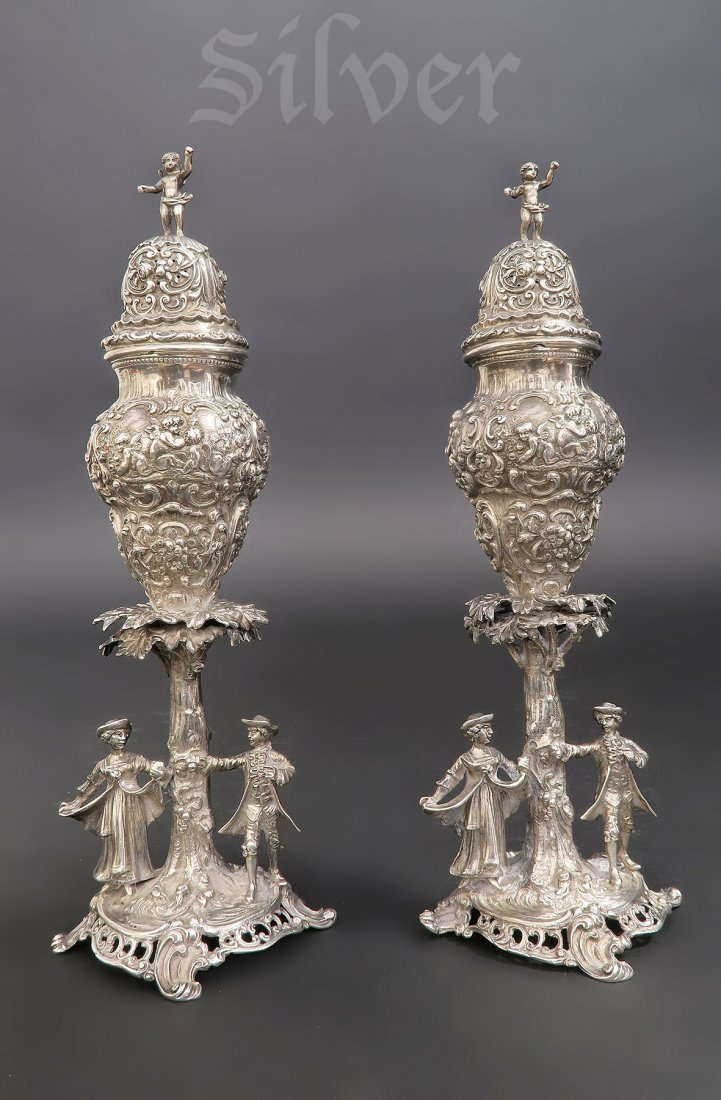 Pair JD Schleissner & Sohne Silver Salt & Pepper