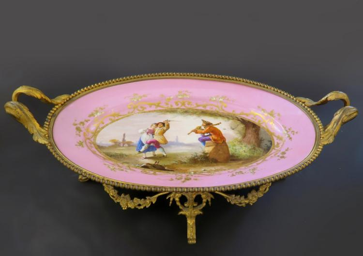 Large 19th C. French Sevres Centerpiece/Tray
