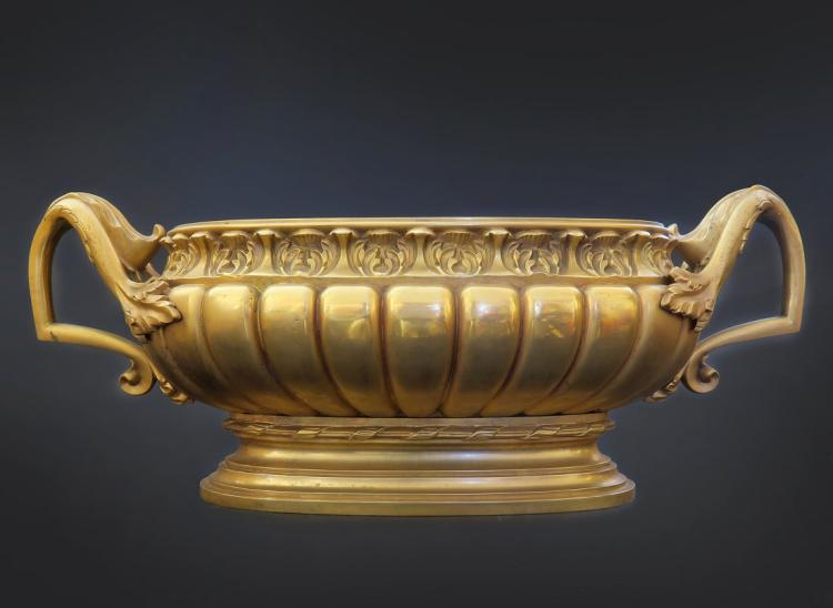 Very Fine Large French 19th C. Gilt Bronze Centerpiece