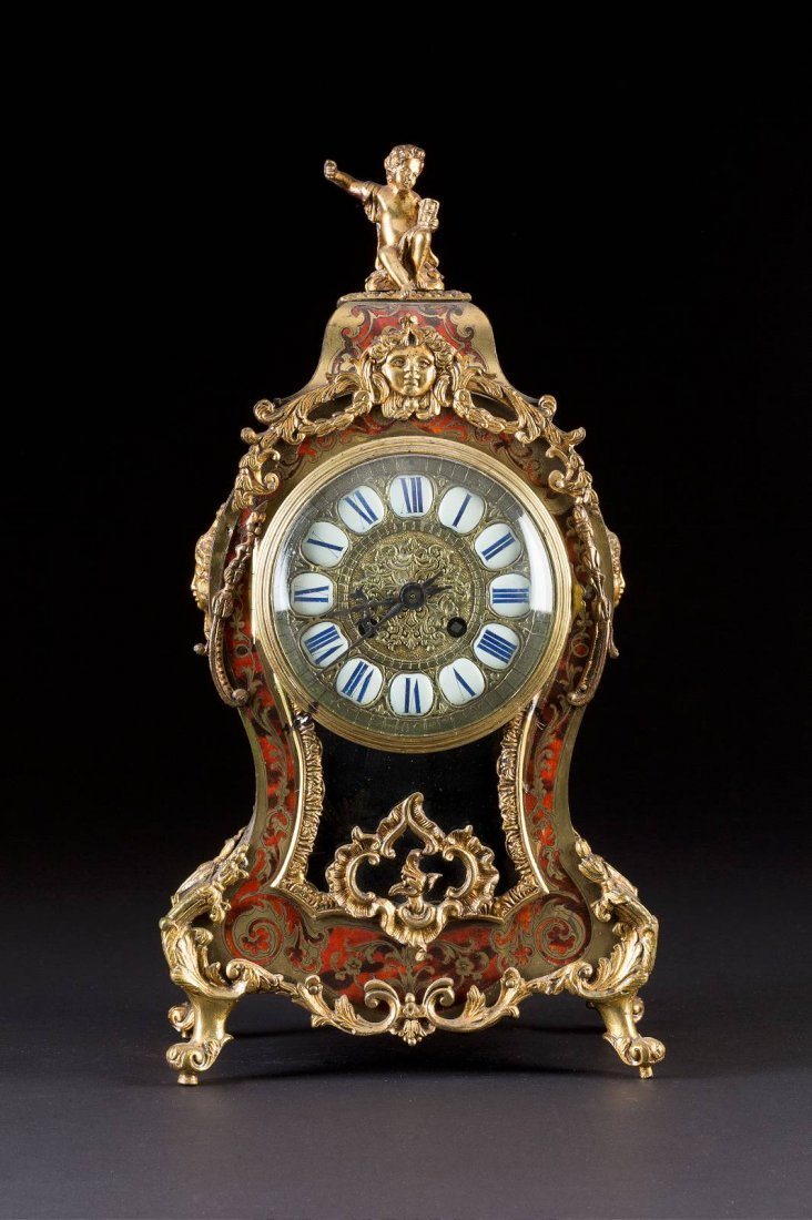 19th C. French Boulle Figural Clock