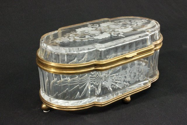 Huge Baccarat Crystal Jewelry Box