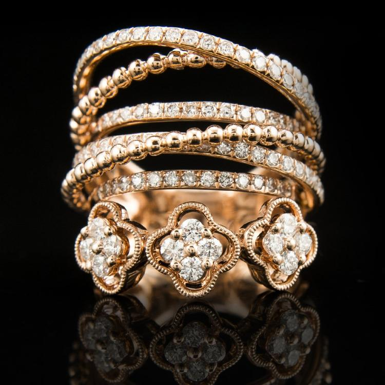 18K Rose Gold & Diamond Ring