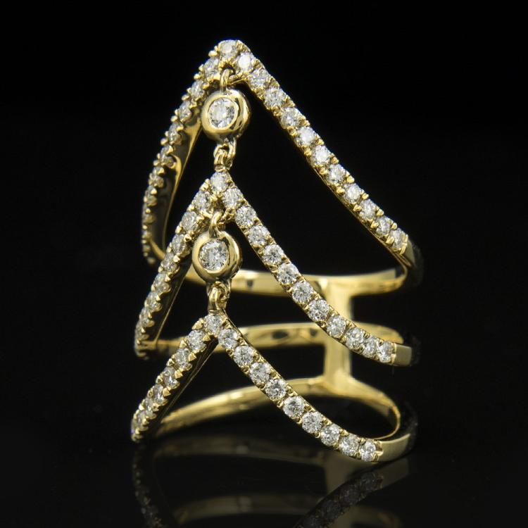 18k Yellow Gold & Diamond Ring