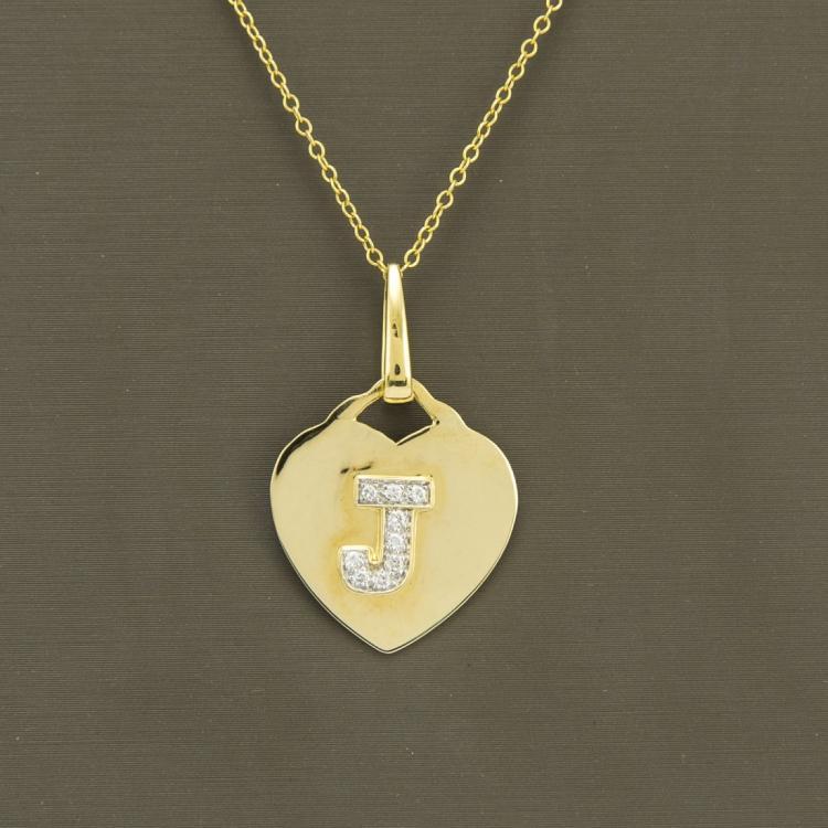 18K Yellow Gold Necklace & Diamond