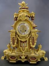 Magnificent French Bronze & Sevres Porcelain Clock