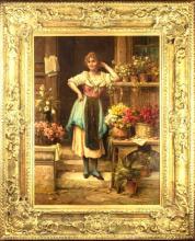 The Florist by Hans Zatzka