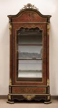 Boulle Display Cabinet with Beveled Glass