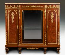 Fine Marquetry Inlaid Kingwood Side Cabinet, Possibly
