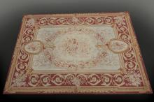 Large antique French Aubusson Tapestry/Area Rug