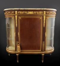 19th C. Very Fine French Side Cabinet Marble Top