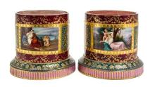 A Pair of Vienna Porcelain Stands