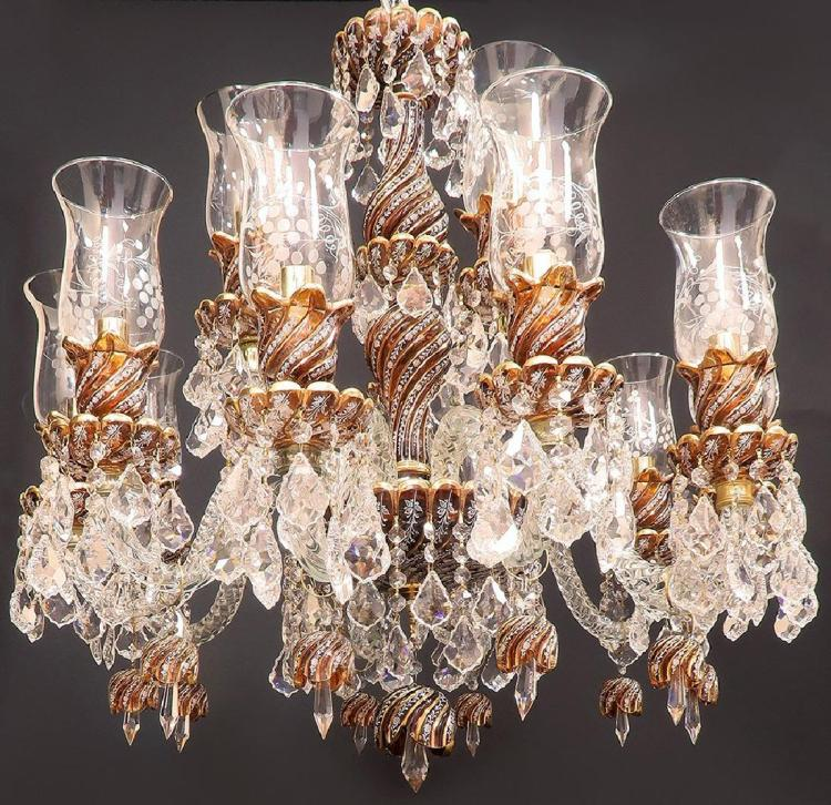 baccarat style crystal chandelier 10 3 branches. Black Bedroom Furniture Sets. Home Design Ideas