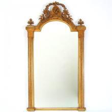 Large 19th C. Napoleon III Giltwood Pier Mirror