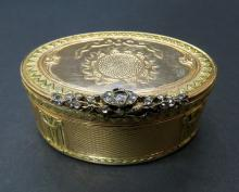 18th C. 18kt Gold & Diamonds Snuff Box, Geneva