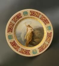 19th C. Hand Painted Royal Vienna Porcelain Plate