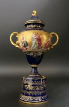 Magnificent 19th C. Hand Painted Royal Vienna Vase