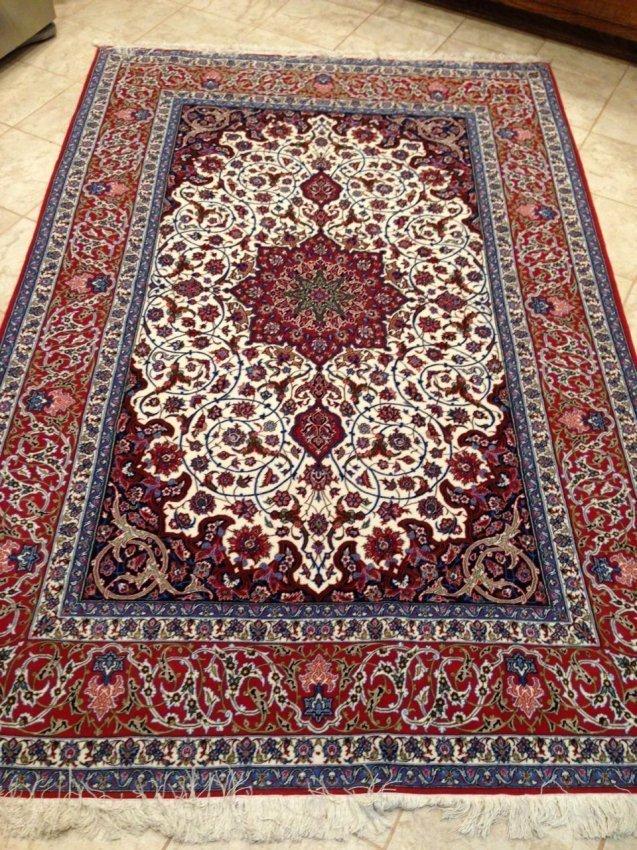 Persian Rug, Isfahan (Seirafian Design)
