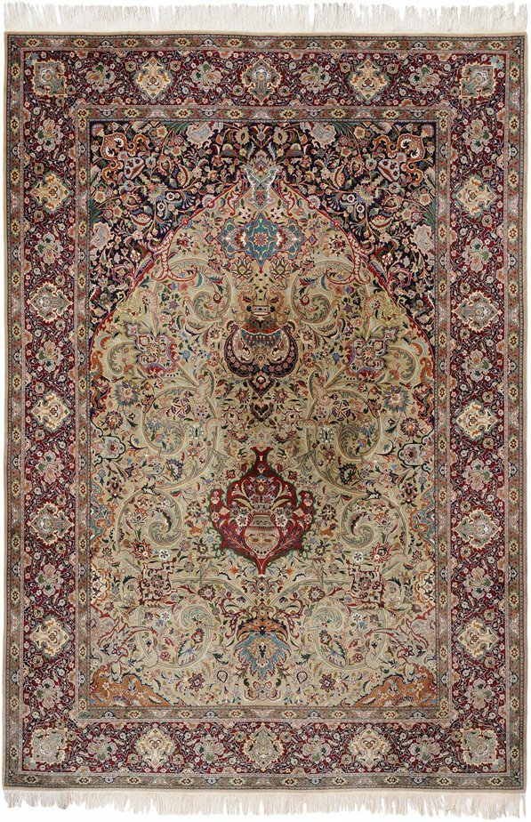 Antique Persian Tabriz Torabi Signed Rug
