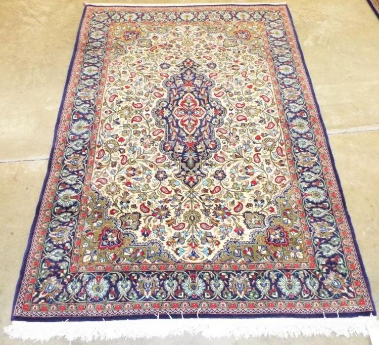 Semi Antique Persian Qom Rug