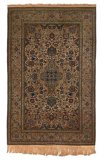 Semi Antique Persian Signed Kashan Rug