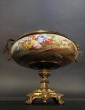 Viennese Enamel on Silver Miniature Centerpiece