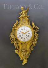 V. Fine 19th C. Tiffany & Co. Chinoiserie Cartel Clock