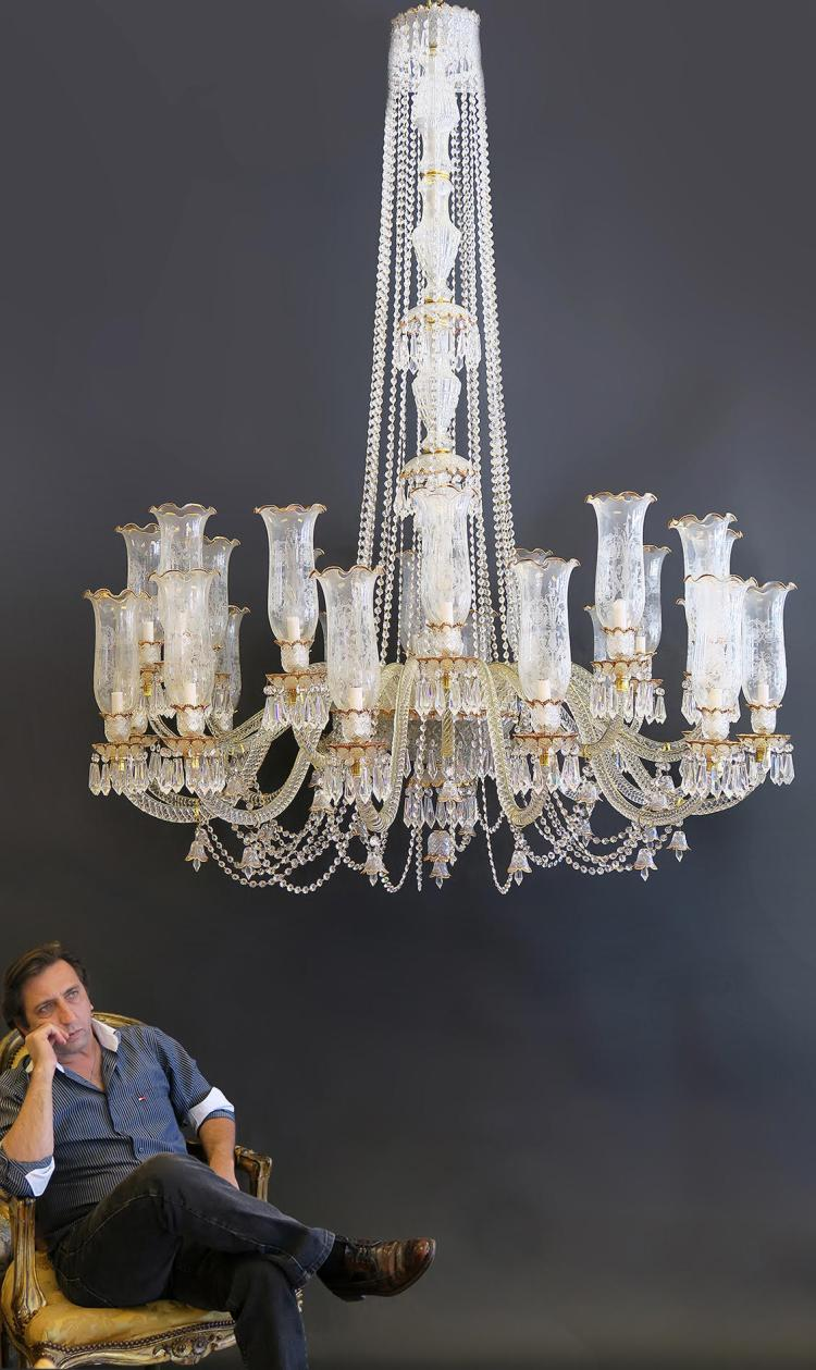 Palatial Baccarat Style Chandelier 24 Lights
