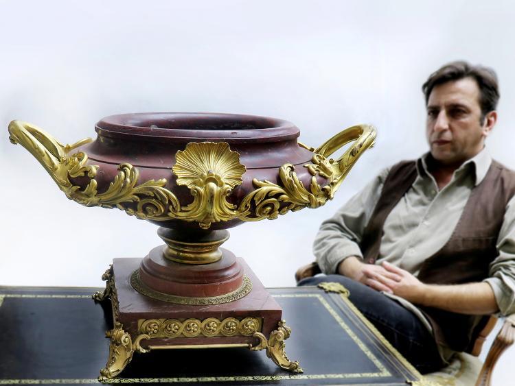 The Rouge Marble Dore Bronze Ormolu-Mounted Centerpiece