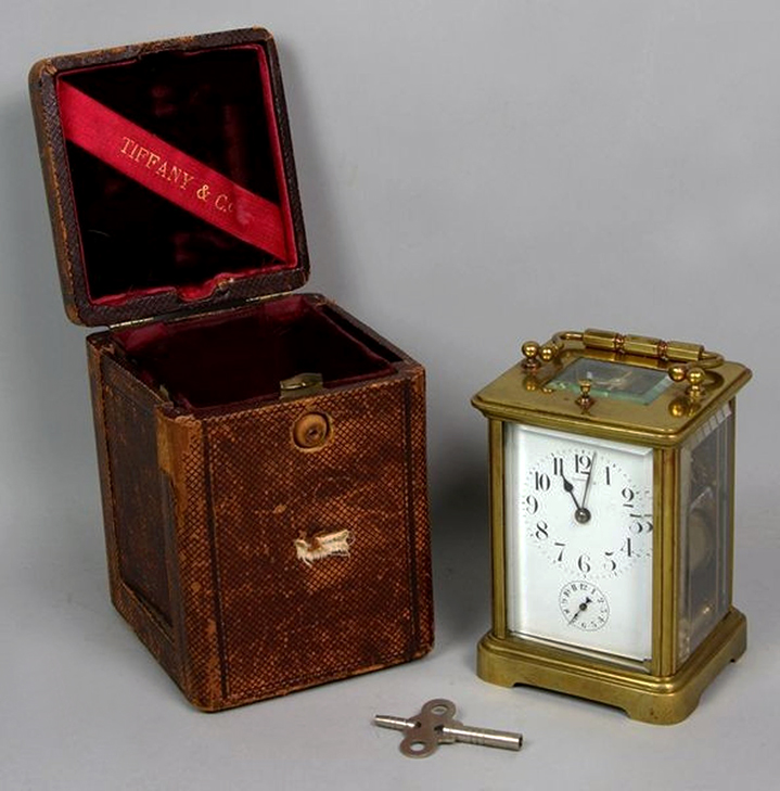 Tiffany & Co. carriage repeater clock