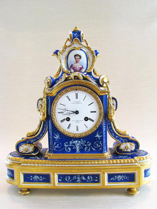 Very Fine French Porcelain Clock, Circa 1860