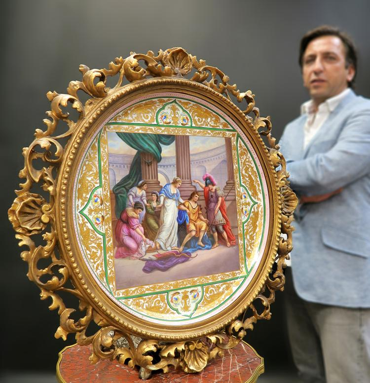 Monumental Framed Royal Vienna Charger 19 5/8