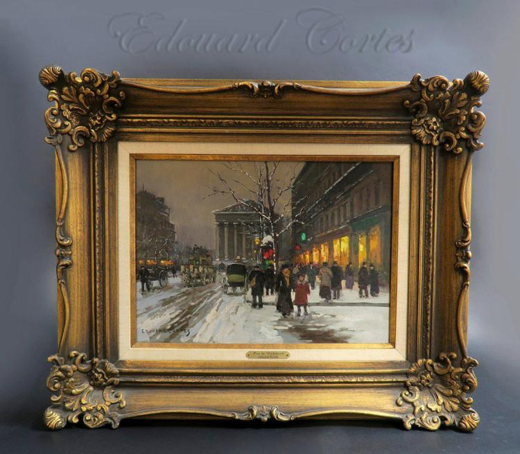 19th C. Painting Edouard Cortes