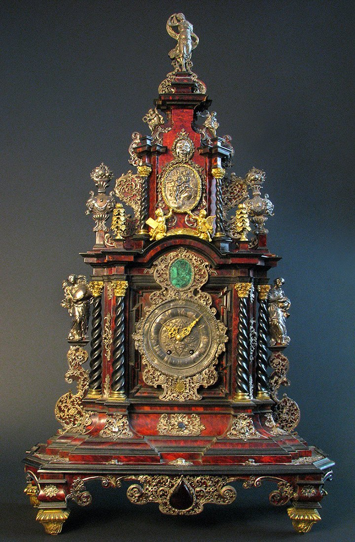 A Palatial German Case, Clock Late 17th C. 39'' tall